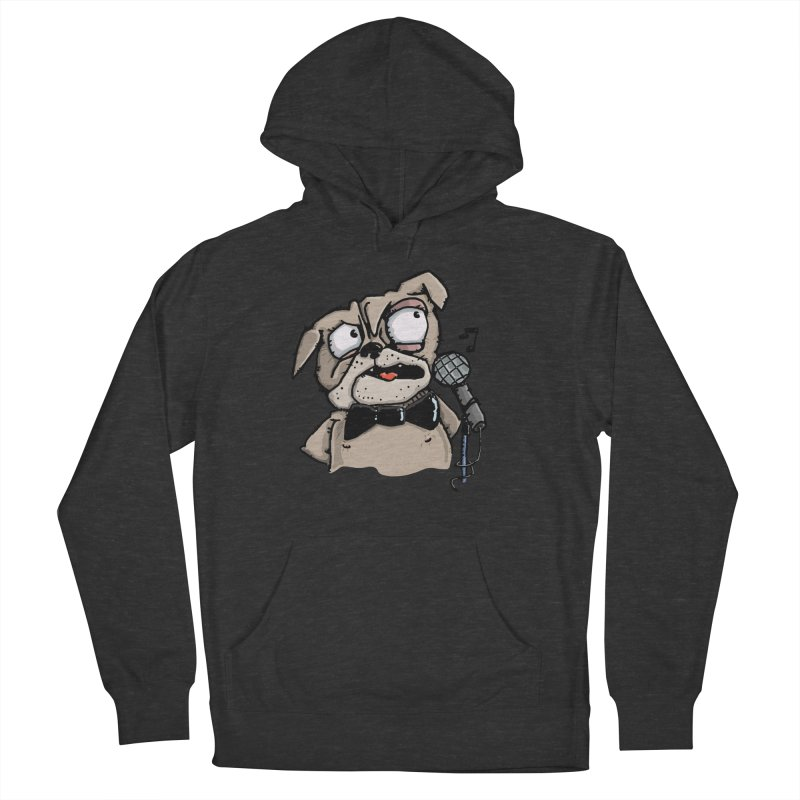 The Pug sings that old jazzy Tune. My Way in New York. Men's French Terry Pullover Hoody by Illustrated Madness