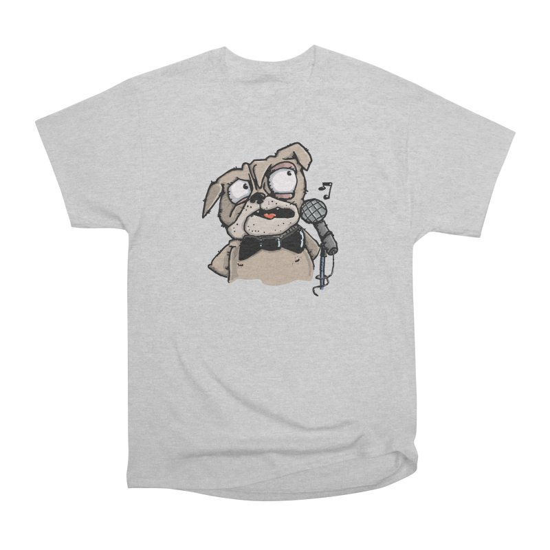 The Pug sings that old jazzy Tune. My Way in New York. Women's Heavyweight Unisex T-Shirt by Illustrated Madness