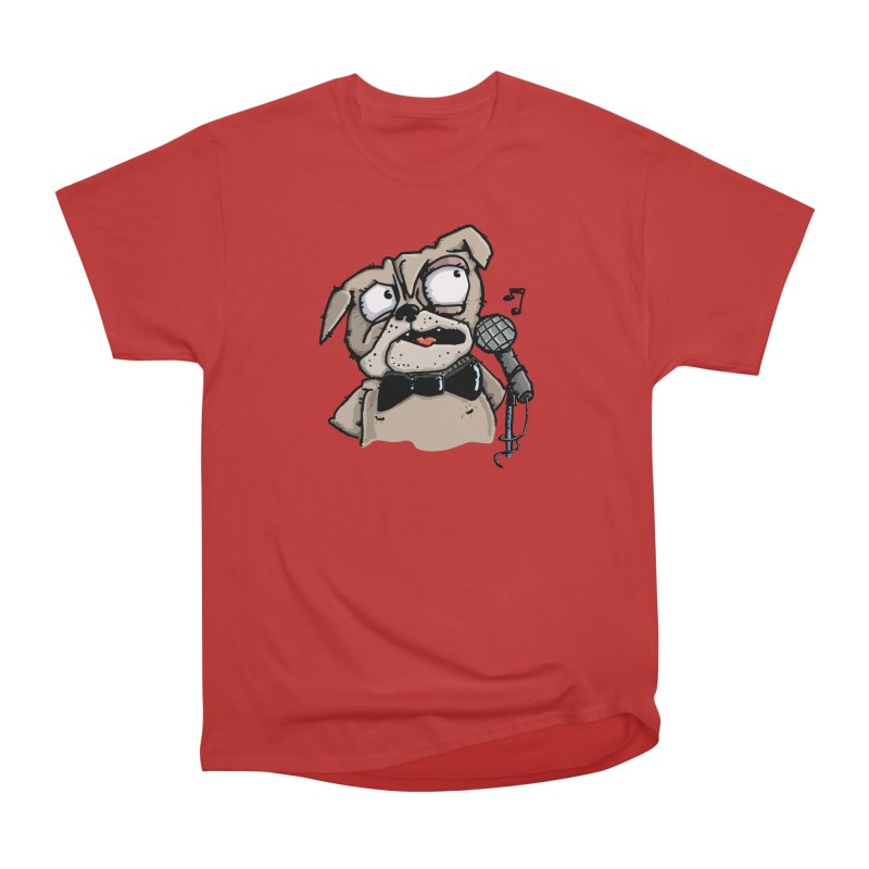 The Pug sings that old jazzy Tune. My Way in New York. Men's Heavyweight T-Shirt by Illustrated Madness