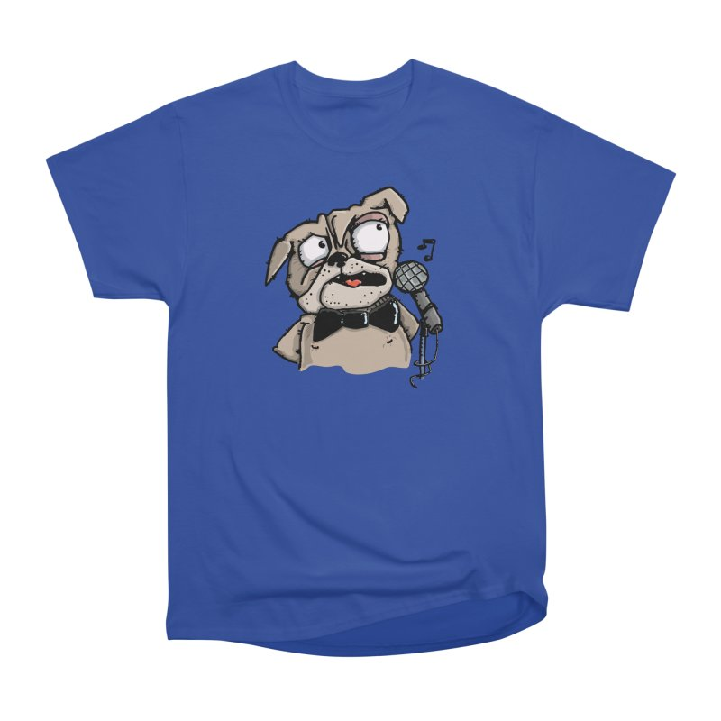 The Pugs sings that old jazzy Tune. My Way in New York. Men's Heavyweight T-Shirt by Illustrated Madness