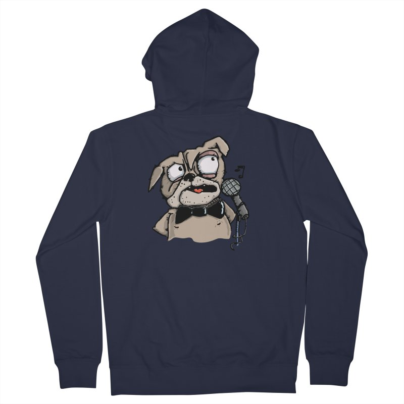 The Pugs sings that old jazzy Tune. My Way in New York. Women's Zip-Up Hoody by Illustrated Madness