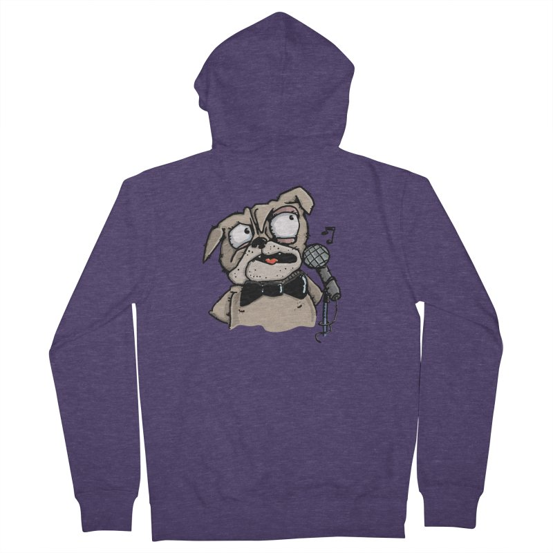 The Pugs sings that old jazzy Tune. My Way in New York. Men's Zip-Up Hoody by Illustrated Madness