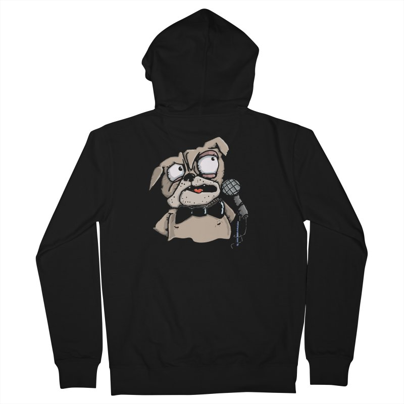 The Pugs sings that old jazzy Tune. My Way in New York. Men's French Terry Zip-Up Hoody by Illustrated Madness