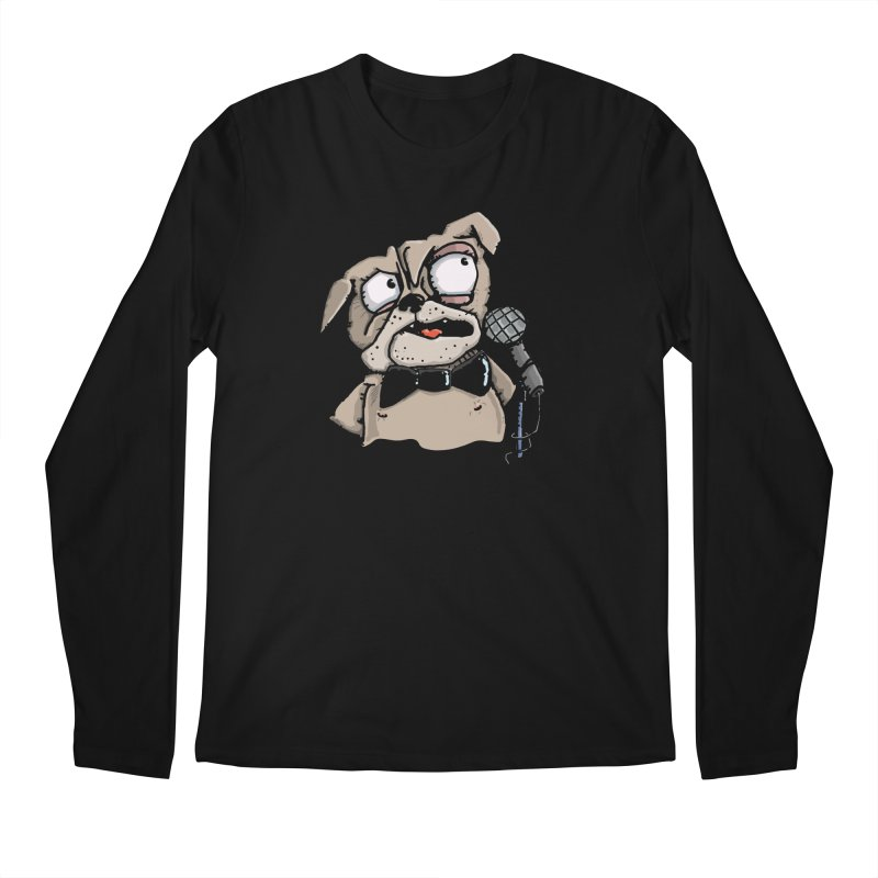 The Pugs sings that old jazzy Tune. My Way in New York. Men's Longsleeve T-Shirt by Illustrated Madness