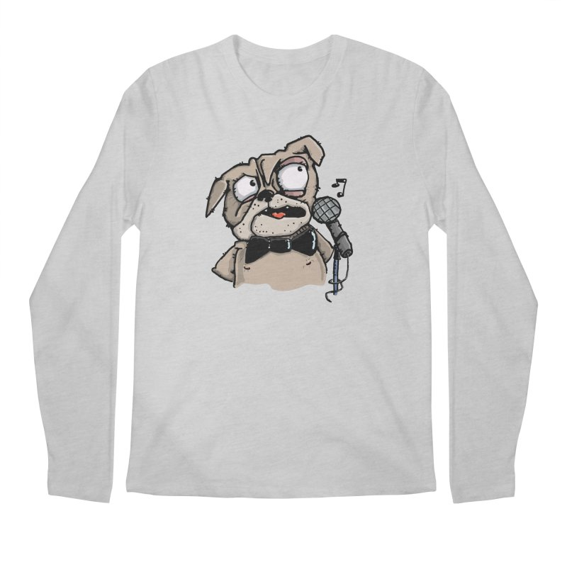 The Pug sings that old jazzy Tune. My Way in New York. Men's Regular Longsleeve T-Shirt by Illustrated Madness