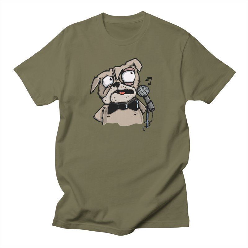 The Pugs sings that old jazzy Tune. My Way in New York. Men's T-Shirt by Illustrated Madness