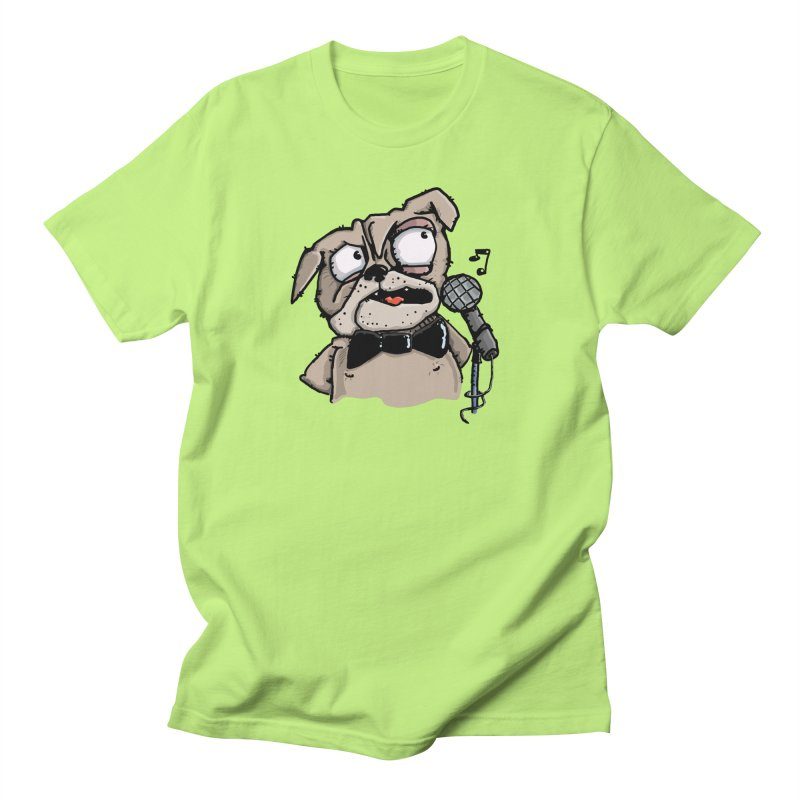 The Pug sings that old jazzy Tune. My Way in New York. Men's Regular T-Shirt by Illustrated Madness
