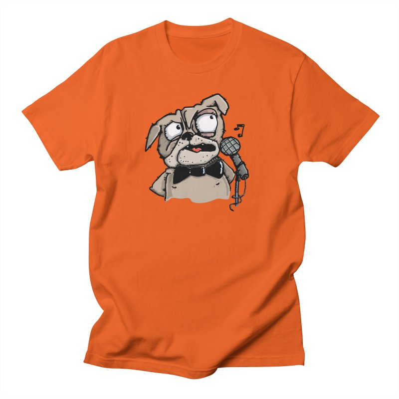 The Pug sings that old jazzy Tune. My Way in New York. Women's Regular Unisex T-Shirt by Illustrated Madness