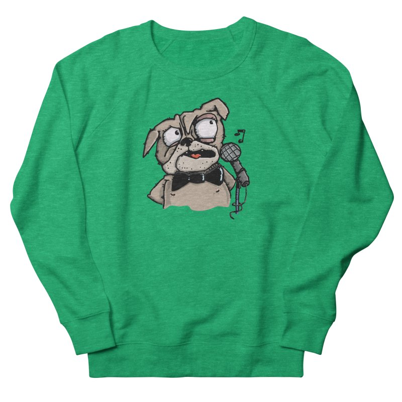 The Pug sings that old jazzy Tune. My Way in New York. Women's Sweatshirt by Illustrated Madness