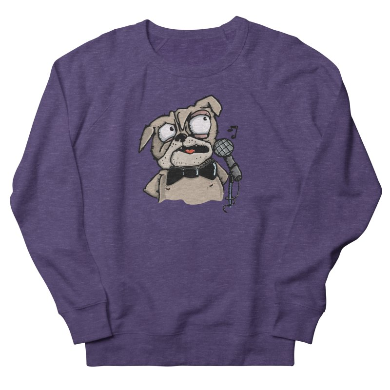 The Pug sings that old jazzy Tune. My Way in New York. Women's French Terry Sweatshirt by Illustrated Madness