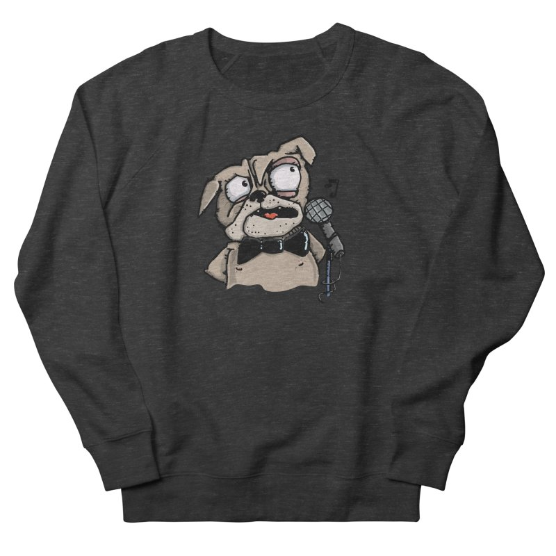 The Pug sings that old jazzy Tune. My Way in New York. Men's French Terry Sweatshirt by Illustrated Madness