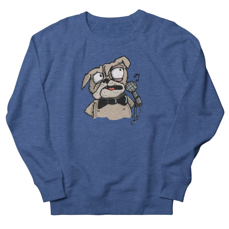 The Pug sings that old jazzy Tune. My Way in New York. Men's Sweatshirt by Illustrated Madness