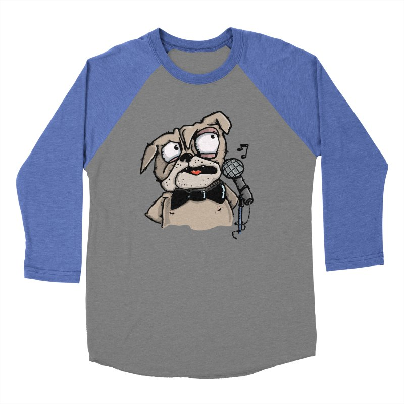 The Pugs sings that old jazzy Tune. My Way in New York. Men's Baseball Triblend T-Shirt by Illustrated Madness