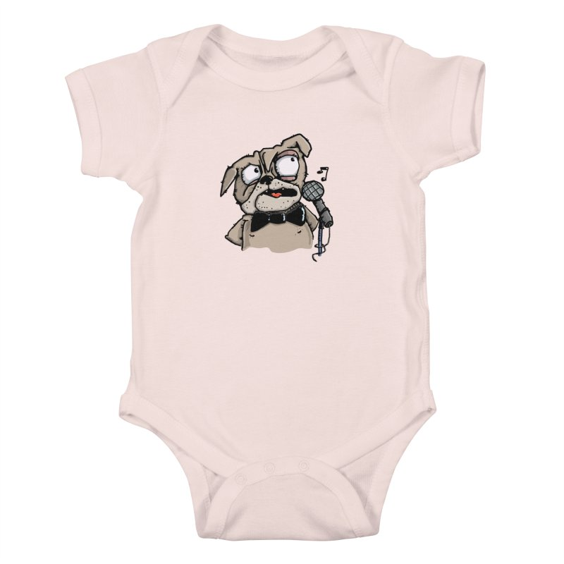 The Pugs sings that old jazzy Tune. My Way in New York. Kids Baby Bodysuit by Illustrated Madness