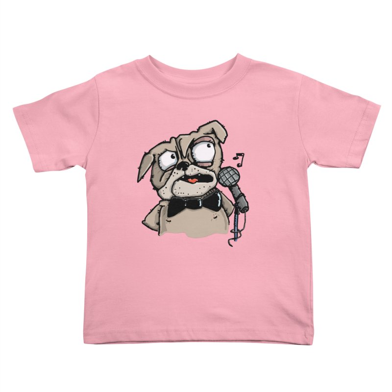 The Pugs sings that old jazzy Tune. My Way in New York. Kids Toddler T-Shirt by Illustrated Madness