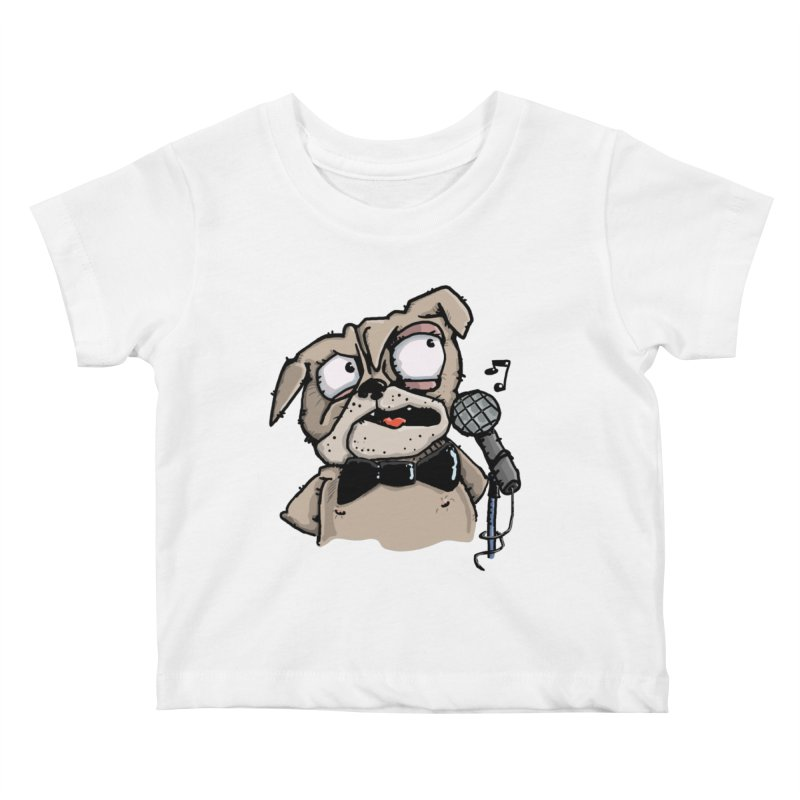 The Pug sings that old jazzy Tune. My Way in New York. Kids Baby T-Shirt by Illustrated Madness