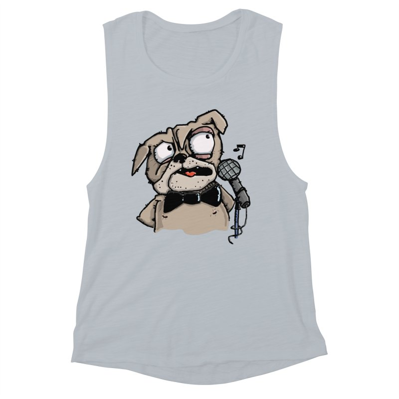 The Pug sings that old jazzy Tune. My Way in New York. Women's Tank by Illustrated Madness
