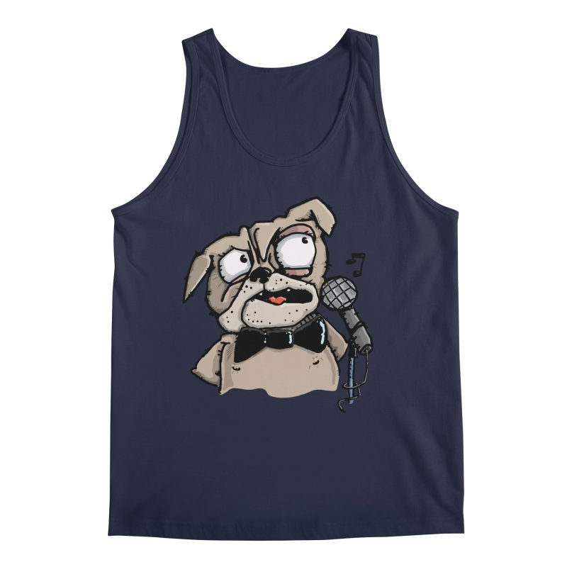 The Pug sings that old jazzy Tune. My Way in New York. Men's Regular Tank by Illustrated Madness