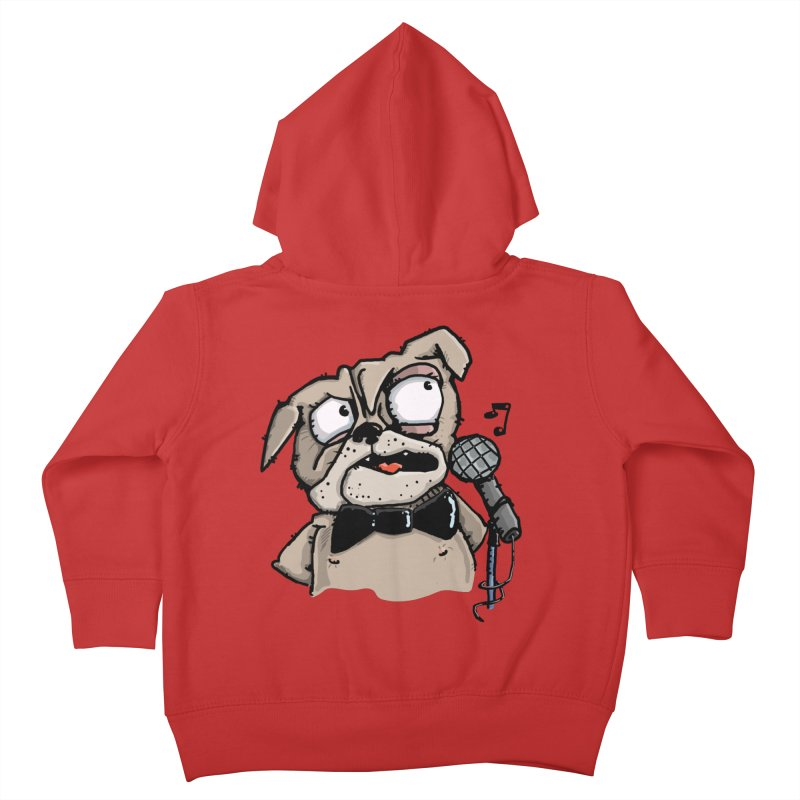 The Pug sings that old jazzy Tune. My Way in New York. Kids Toddler Zip-Up Hoody by Illustrated Madness