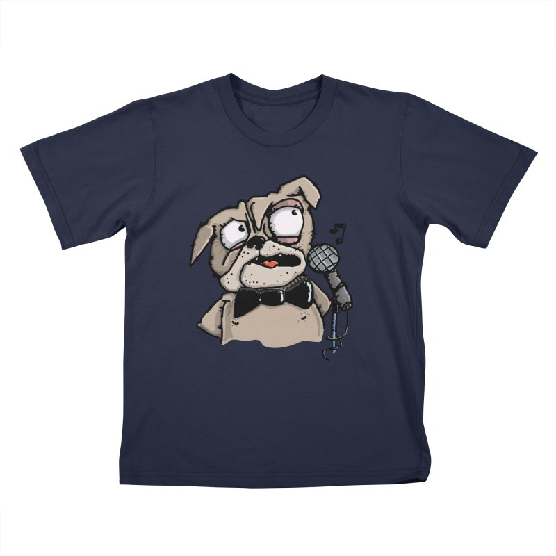 The Pug sings that old jazzy Tune. My Way in New York. Kids T-Shirt by Illustrated Madness