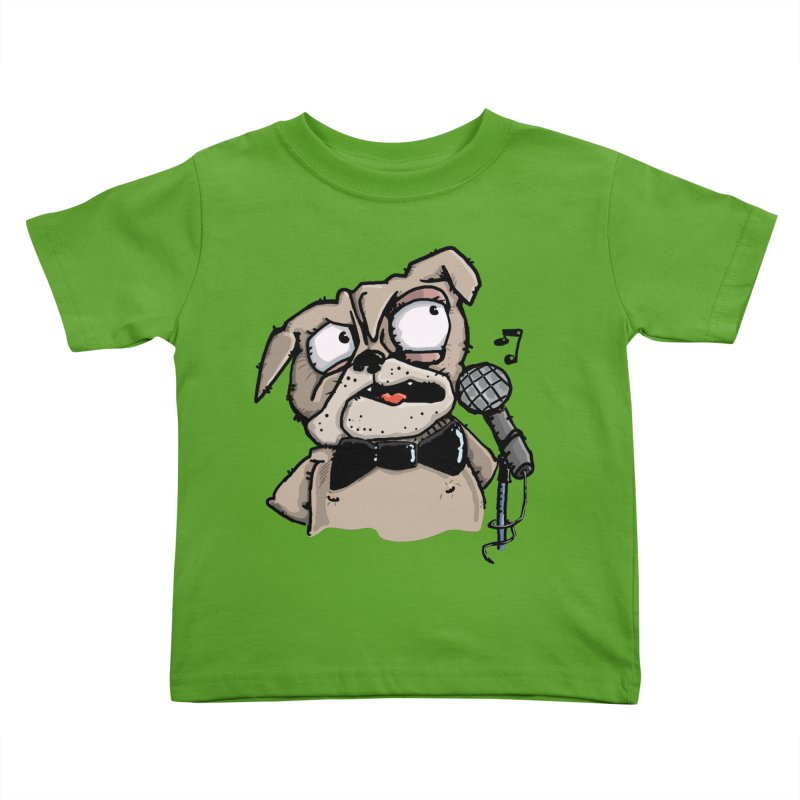 The Pug sings that old jazzy Tune. My Way in New York. Kids Toddler T-Shirt by Illustrated Madness