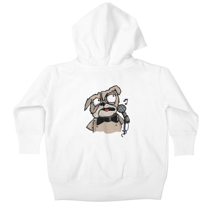The Pug sings that old jazzy Tune. My Way in New York. Kids Baby Zip-Up Hoody by Illustrated Madness