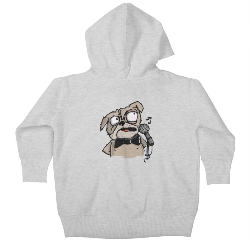 The Pugs sings that old jazzy Tune. My Way in New York. Kids Baby Zip-Up Hoody by Illustrated Madness