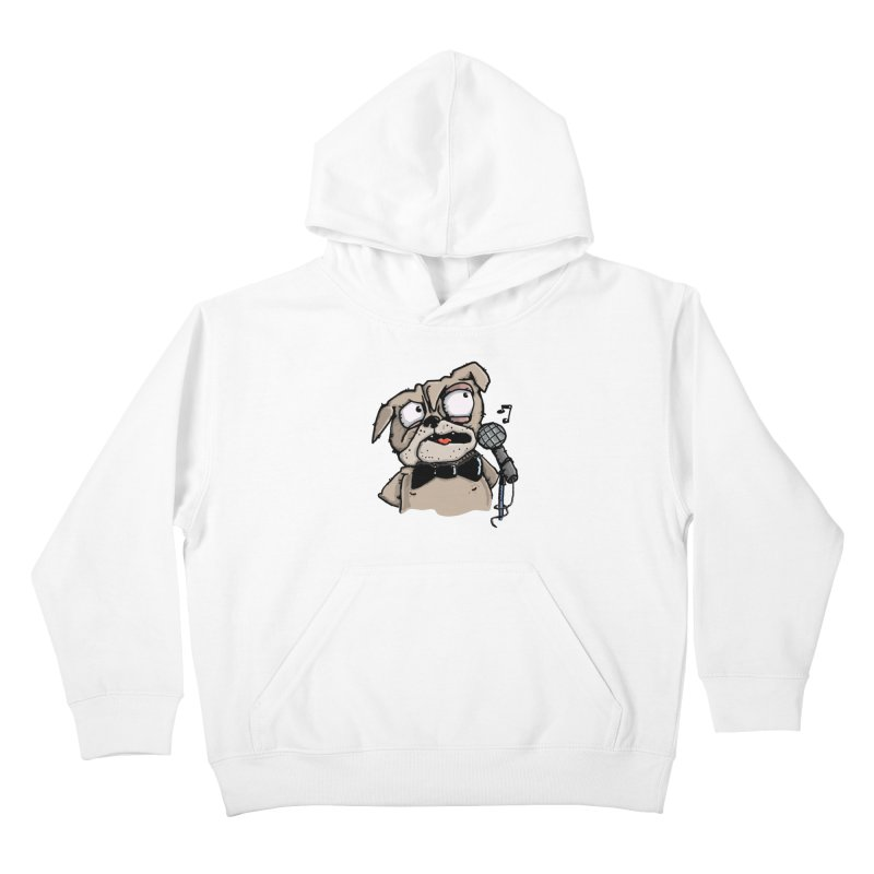 The Pugs sings that old jazzy Tune. My Way in New York. Kids Pullover Hoody by Illustrated Madness