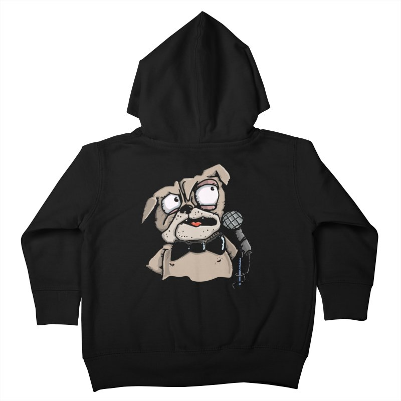 The Pugs sings that old jazzy Tune. My Way in New York. Kids Toddler Zip-Up Hoody by Illustrated Madness