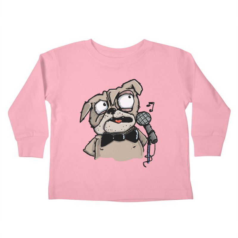 The Pug sings that old jazzy Tune. My Way in New York. Kids Toddler Longsleeve T-Shirt by Illustrated Madness