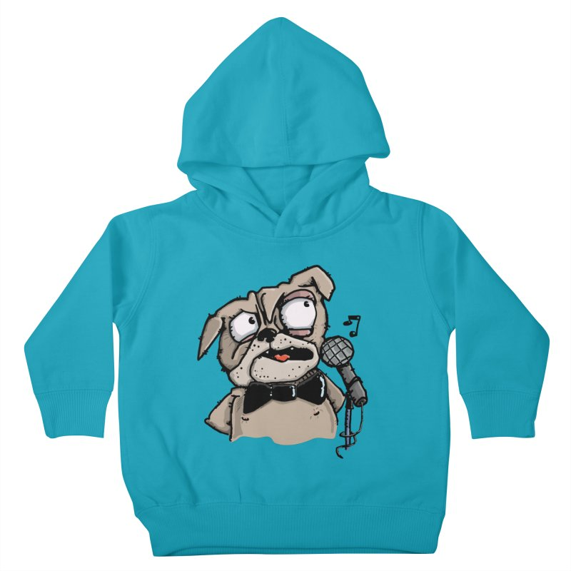 The Pugs sings that old jazzy Tune. My Way in New York. Kids Toddler Pullover Hoody by Illustrated Madness