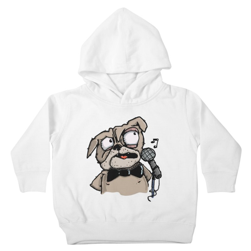 The Pug sings that old jazzy Tune. My Way in New York. Kids Toddler Pullover Hoody by Illustrated Madness