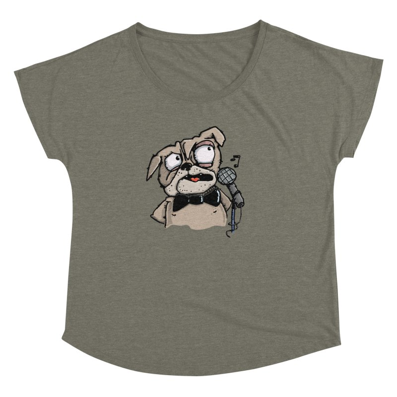 The Pugs sings that old jazzy Tune. My Way in New York. Women's Dolman by Illustrated Madness