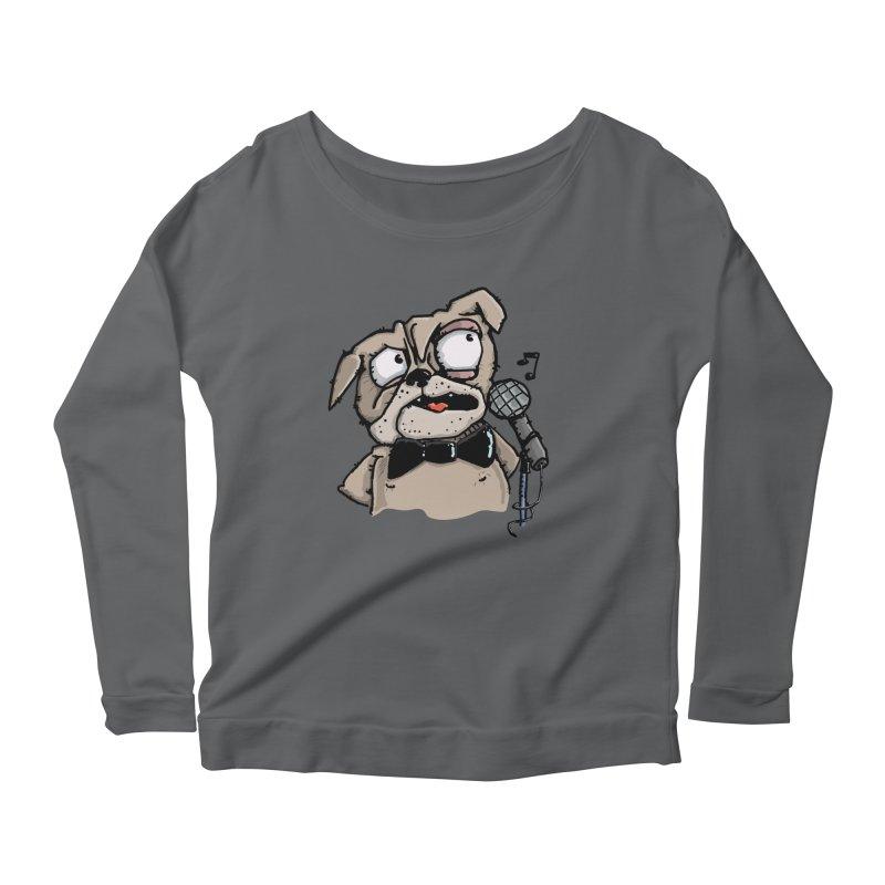 The Pug sings that old jazzy Tune. My Way in New York. Women's Longsleeve T-Shirt by Illustrated Madness