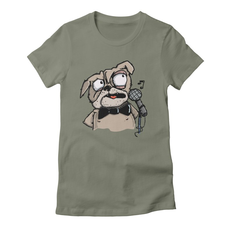 The Pugs sings that old jazzy Tune. My Way in New York. Women's Fitted T-Shirt by Illustrated Madness