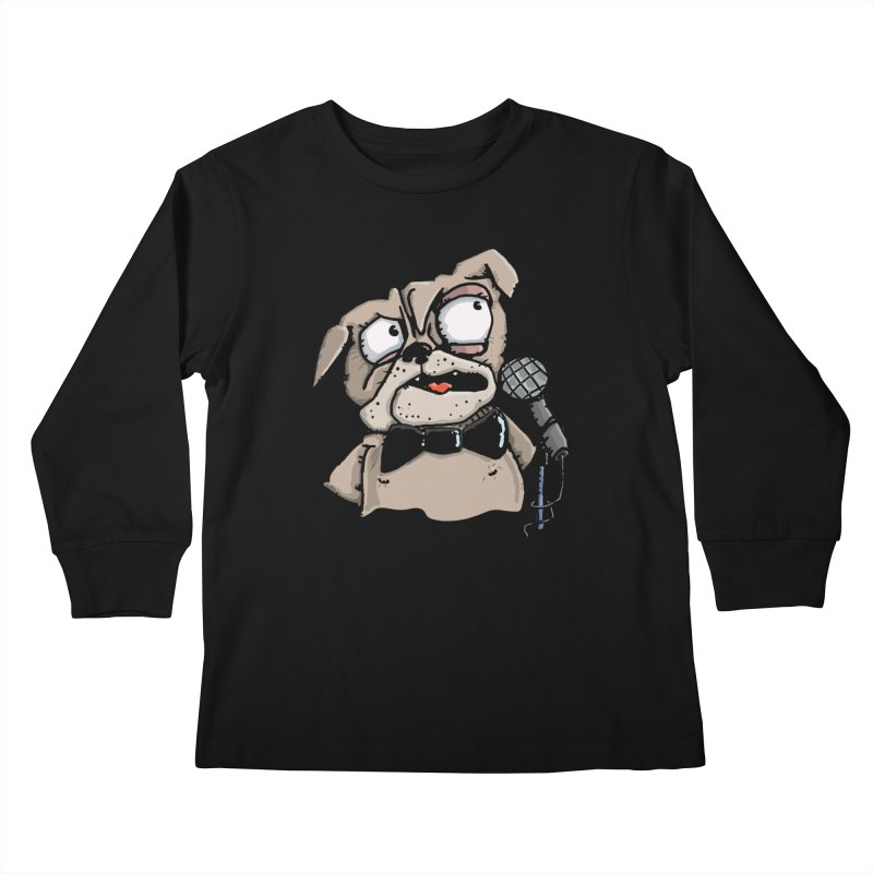 The Pug sings that old jazzy Tune. My Way in New York. Kids Longsleeve T-Shirt by Illustrated Madness