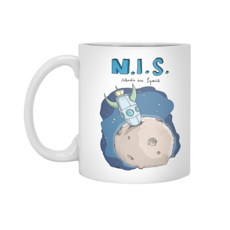 Nerds in Space. Is there intelligent Life in the Universe? Accessories Standard Mug by Illustrated Madness