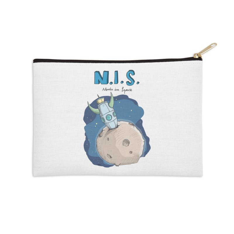 Nerds in Space. Is there intelligent Life in the Universe? Accessories Zip Pouch by Illustrated Madness