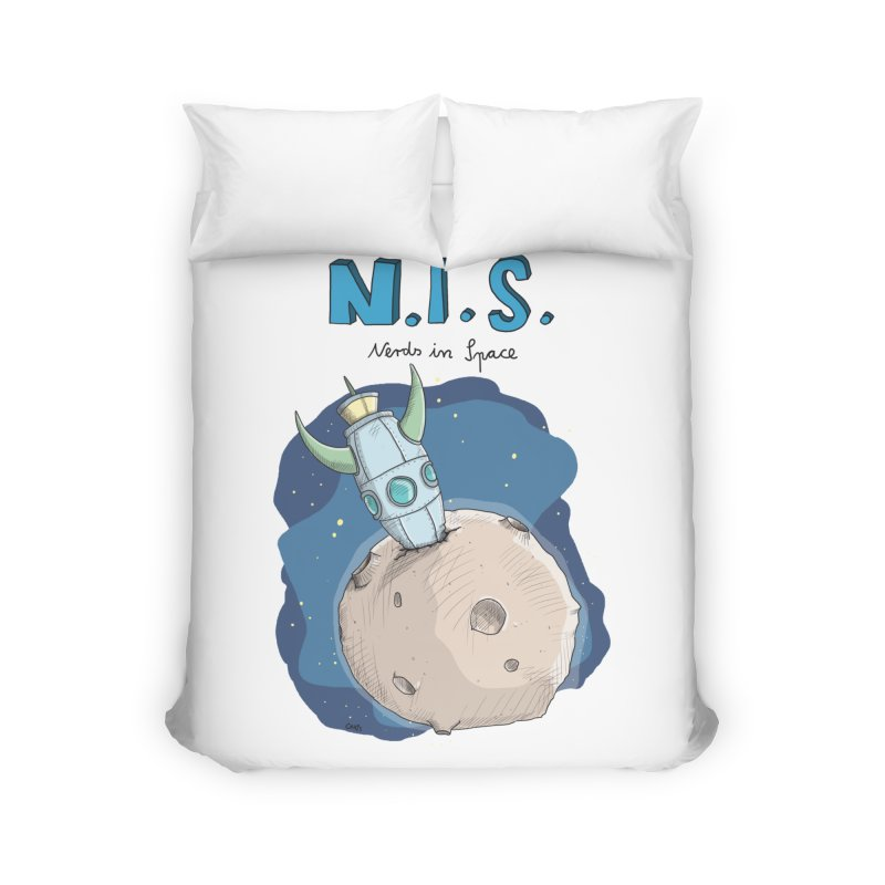 Nerds in Space. Is there intelligent Life in the Universe? Home Duvet by Illustrated Madness