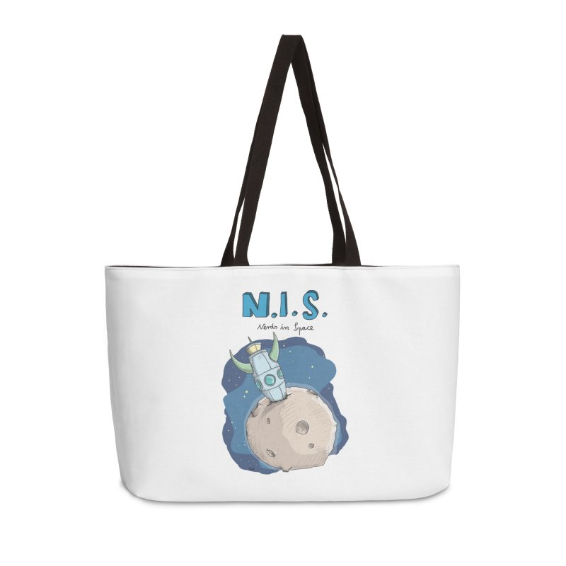Nerds in Space. Is there intelligent Life in the Universe? Accessories Weekender Bag Bag by Illustrated Madness