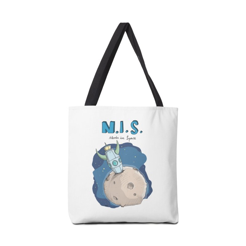 Nerds in Space. Is there intelligent Life in the Universe? Accessories Tote Bag Bag by Illustrated Madness