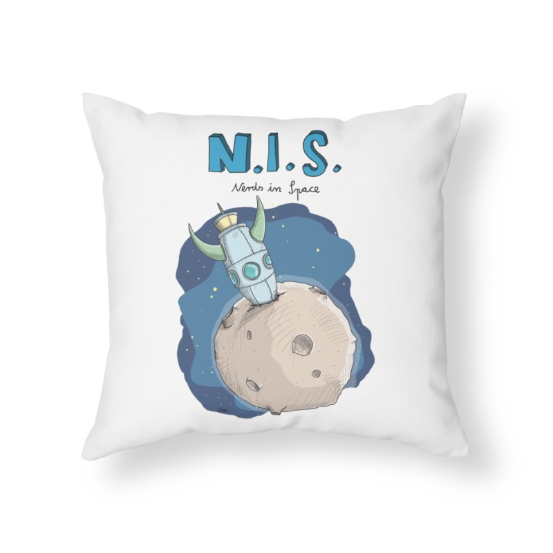 Nerds in Space. Is there intelligent Life in the Universe? Home Throw Pillow by Illustrated Madness