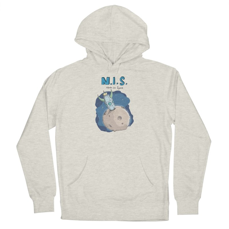 Nerds in Space. Is there intelligent Life in the Universe? Men's Pullover Hoody by Illustrated Madness