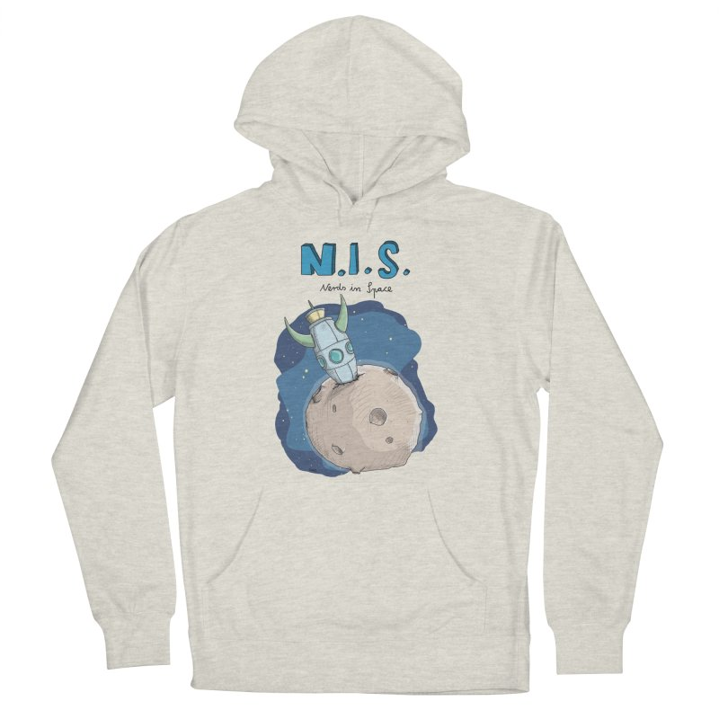 Nerds in Space. Is there intelligent Life in the Universe? Men's French Terry Pullover Hoody by Illustrated Madness