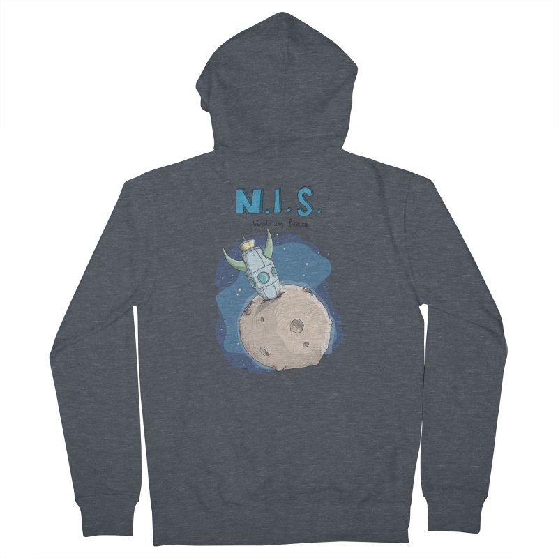 Nerds in Space. Is there intelligent Life in the Universe? Women's Zip-Up Hoody by Illustrated Madness