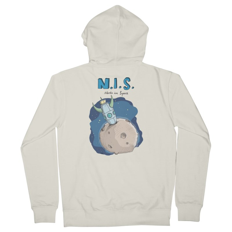 Nerds in Space. Is there intelligent Life in the Universe? Men's French Terry Zip-Up Hoody by Illustrated Madness