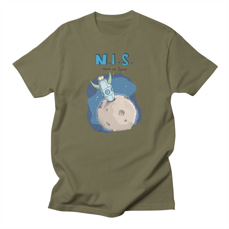 Nerds in Space. Is there intelligent Life in the Universe? Men's T-Shirt by Illustrated Madness
