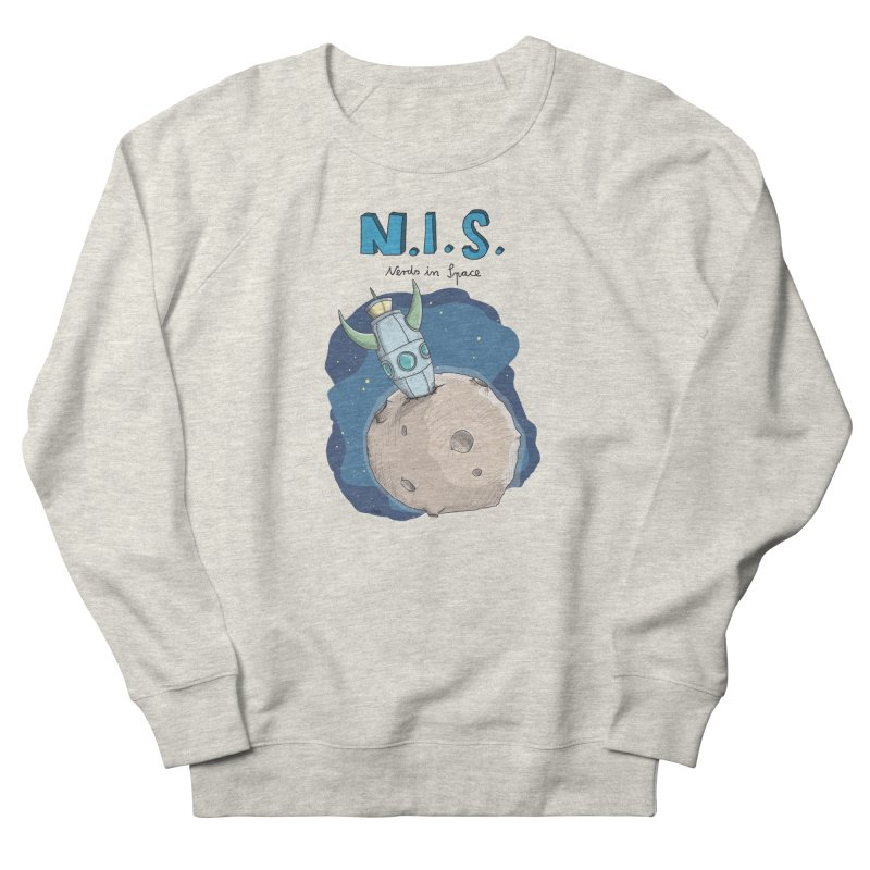 Nerds in Space. Is there intelligent Life in the Universe? Men's French Terry Sweatshirt by Illustrated Madness