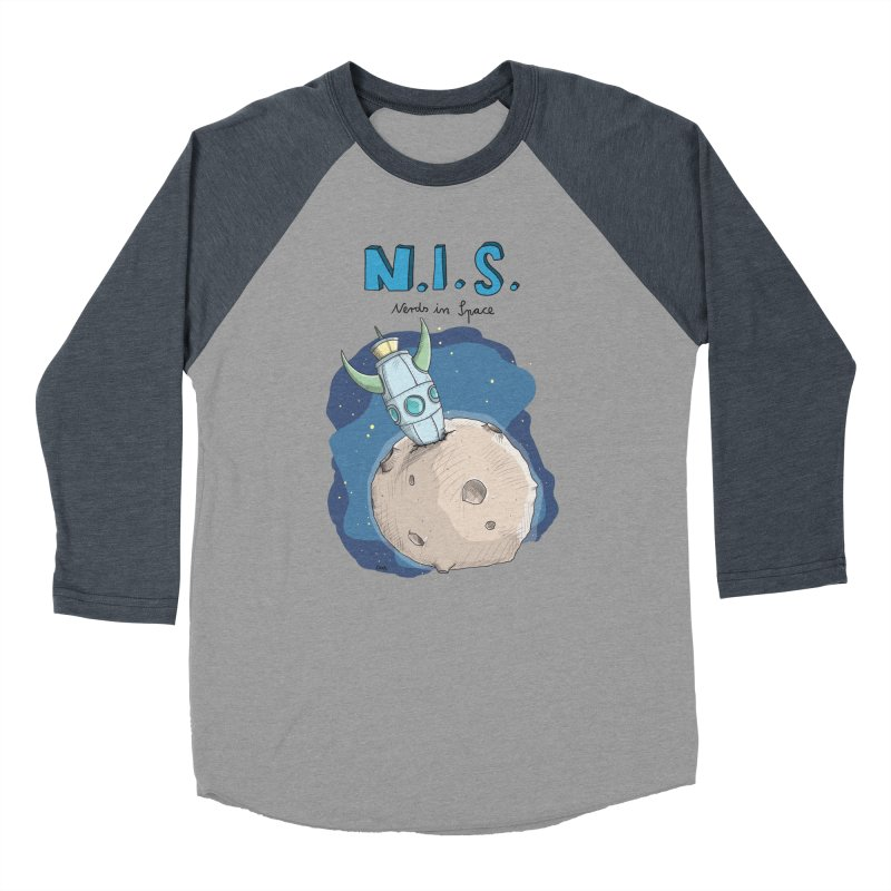 Nerds in Space. Is there intelligent Life in the Universe? Women's Baseball Triblend Longsleeve T-Shirt by Illustrated Madness