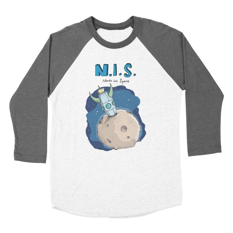 Nerds in Space. Is there intelligent Life in the Universe? Men's Baseball Triblend Longsleeve T-Shirt by Illustrated Madness